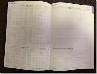 2020週間ノート、年間ヴィジョンと年間ふりかえり