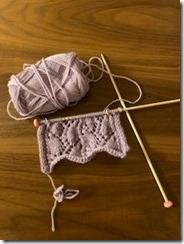 編みかけの編み物